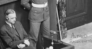Alfred Rosenberg at the International Military Tribunal in 1946