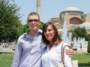James Stroud with his wife in Istanbul, Turkey