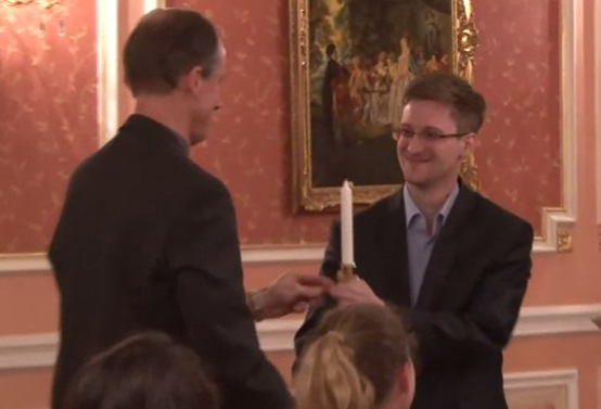 Edward Snowden Honored with 2013 Sam Adams Award