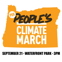 Portland People's Climate March, September 21