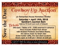 Cowboy Up for Samaritan House Dinner and Auction