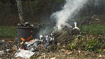 The Practice of Burning Trash in Developing Countries