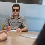 blind students in class