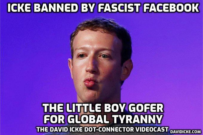 Fascist Facebook Bans David Icke over Views on Global Coronavirus Scare