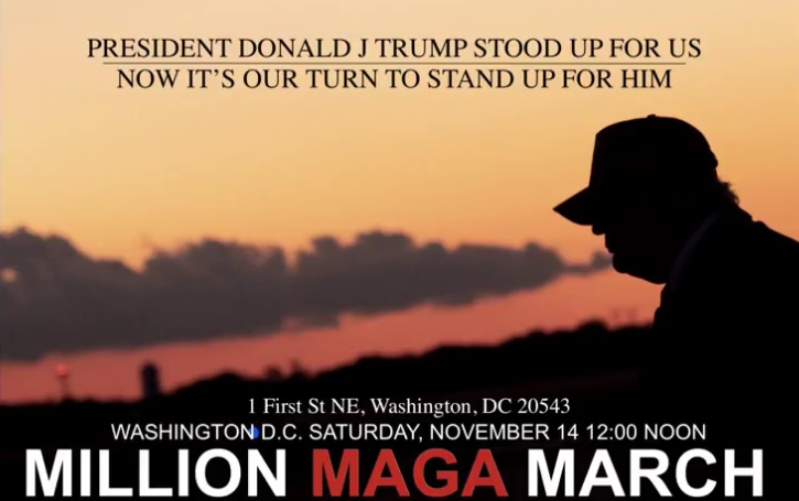 Million MAGA March in DC on Saturday against Election Fraud