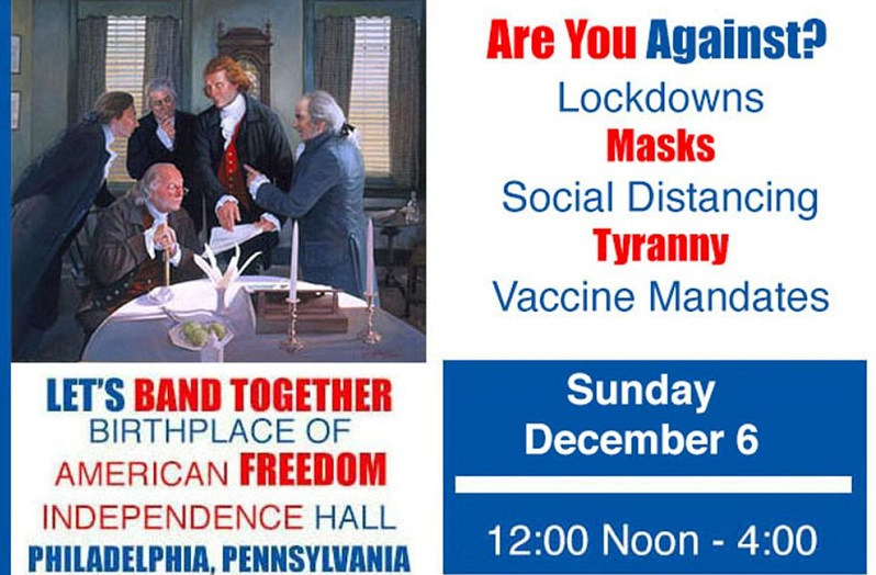 Liberty Rally in Philadelphia against COVID Tyranny, December 6