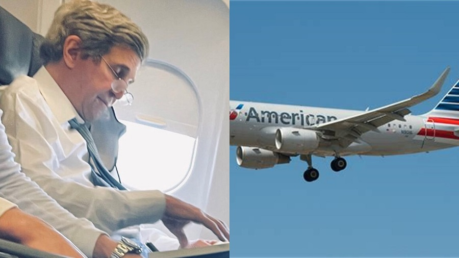 Busted: John Kerry Caught Flying Maskless on American Airlines