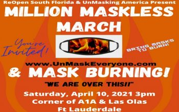 mask burning event