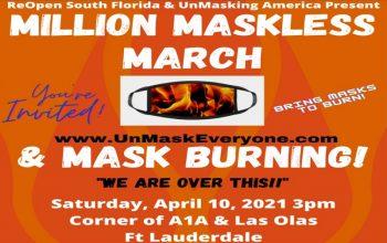 mask burning event