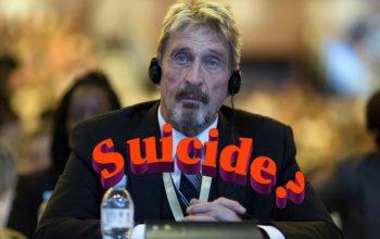 McAfee suicide