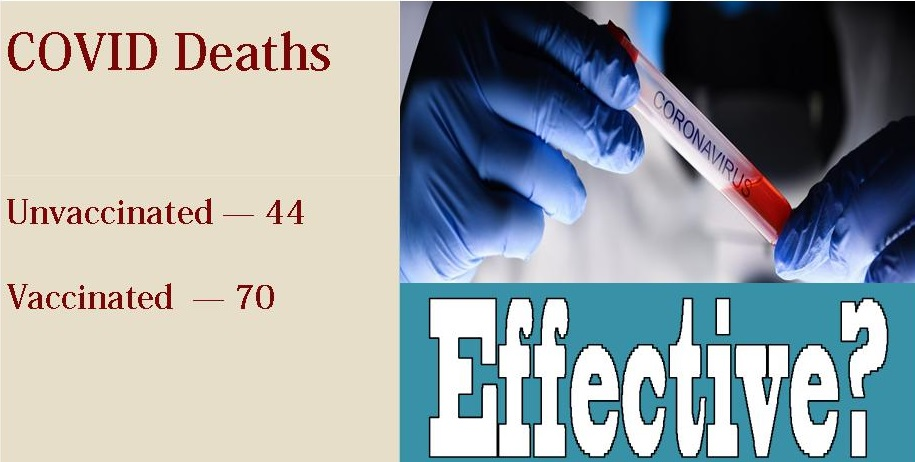 Vaccinated Make the Majority of COVID Deaths in UK