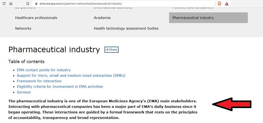 EMA pharma link