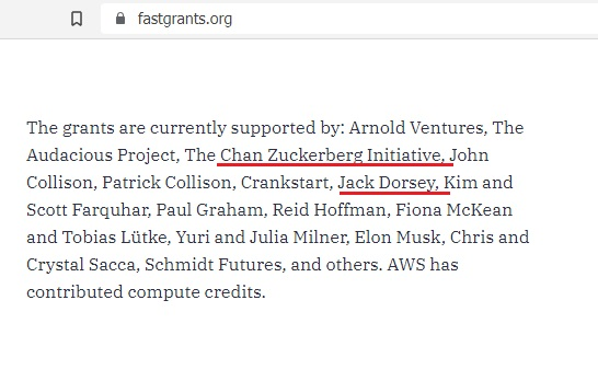Fast Grants donors