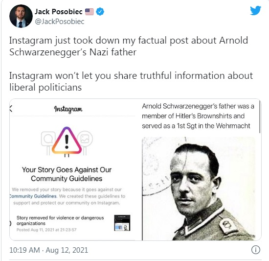 Jack Posobiec tweet on Arnold