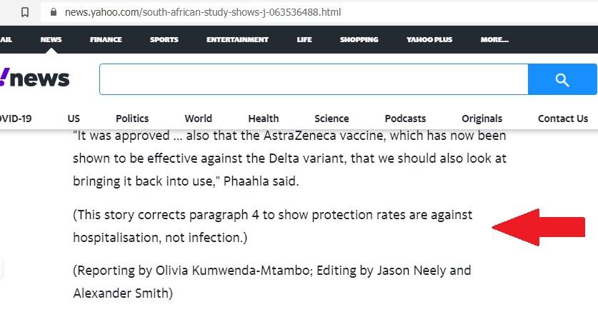 Reuters correction